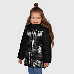 Куртка зимняя для девочки Fall out boy band цвета 3D-черный — фото 2