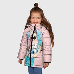 Куртка зимняя для девочки Моя любовь - пончики цвета 3D-черный — фото 2