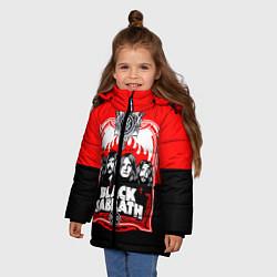 Куртка зимняя для девочки Black Sabbath: Red Sun цвета 3D-черный — фото 2