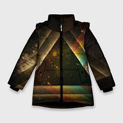 Куртка зимняя для девочки Pink Phloyd: Triangle цвета 3D-черный — фото 1