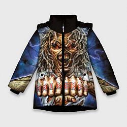 Детская зимняя куртка для девочки с принтом Iron Maiden: Maidenfc, цвет: 3D-черный, артикул: 10089881006065 — фото 1