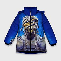 Детская зимняя куртка для девочки с принтом Iron Maiden: Mummy, цвет: 3D-черный, артикул: 10089881606065 — фото 1