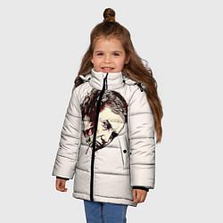 Куртка зимняя для девочки Fight Club: Friends цвета 3D-черный — фото 2