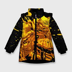 Куртка зимняя для девочки Dark Souls: Gold Knight цвета 3D-черный — фото 1