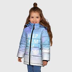 Куртка зимняя для девочки Keep Calm & Dream цвета 3D-черный — фото 2