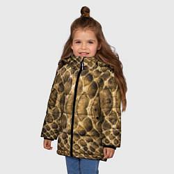 Куртка зимняя для девочки Змеиная кожа цвета 3D-черный — фото 2