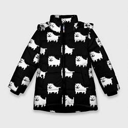 Куртка зимняя для девочки Undertale Annoying dog цвета 3D-черный — фото 1