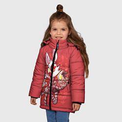Детская зимняя куртка для девочки с принтом Death Mangle, цвет: 3D-черный, артикул: 10093560506065 — фото 2