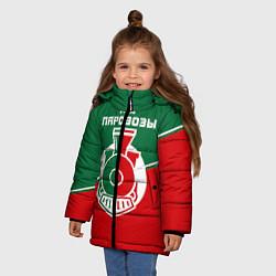 Куртка зимняя для девочки Мы паровозы цвета 3D-черный — фото 2