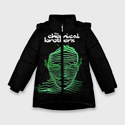 Куртка зимняя для девочки Chemical Brothers: Acid lines цвета 3D-черный — фото 1