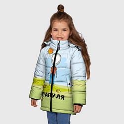 Куртка зимняя для девочки Папуля цвета 3D-черный — фото 2