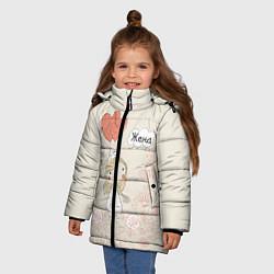 Куртка зимняя для девочки Жена с шариками цвета 3D-черный — фото 2