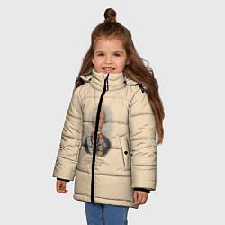 Детская зимняя куртка для девочки с принтом Александр Суворов 1730-1800, цвет: 3D-черный, артикул: 10095769406065 — фото 2