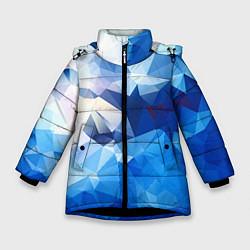 Куртка зимняя для девочки Абстракция цвета 3D-черный — фото 1