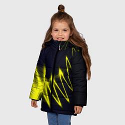 Куртка зимняя для девочки Молния цвета 3D-черный — фото 2