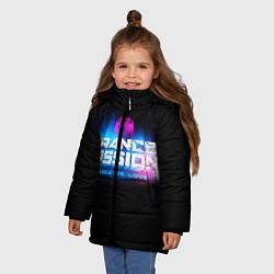 Куртка зимняя для девочки Trancemission: Trance we love цвета 3D-черный — фото 2