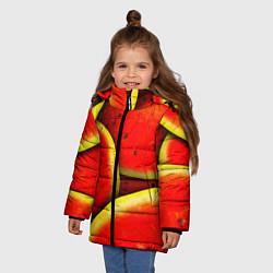 Куртка зимняя для девочки Арбуз цвета 3D-черный — фото 2