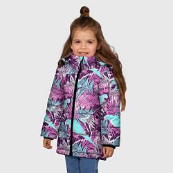 Куртка зимняя для девочки Summer paradise цвета 3D-черный — фото 2