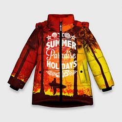 Куртка зимняя для девочки Summer Surf 2 цвета 3D-черный — фото 1