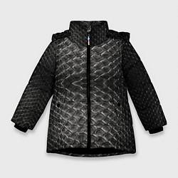 Куртка зимняя для девочки Черная кожа цвета 3D-черный — фото 1