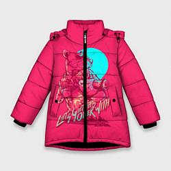 Куртка зимняя для девочки Let's get this over with цвета 3D-черный — фото 1