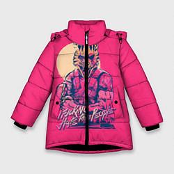 Куртка зимняя для девочки If juking hate these people цвета 3D-черный — фото 1