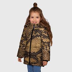 Куртка зимняя для девочки Змеиная кожа - фото 2