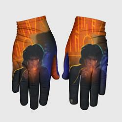 Перчатки Виктор Цой в ночи цвета 3D — фото 1