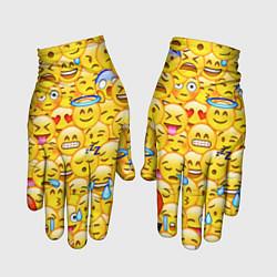 Перчатки Emoji цвета 3D-принт — фото 1