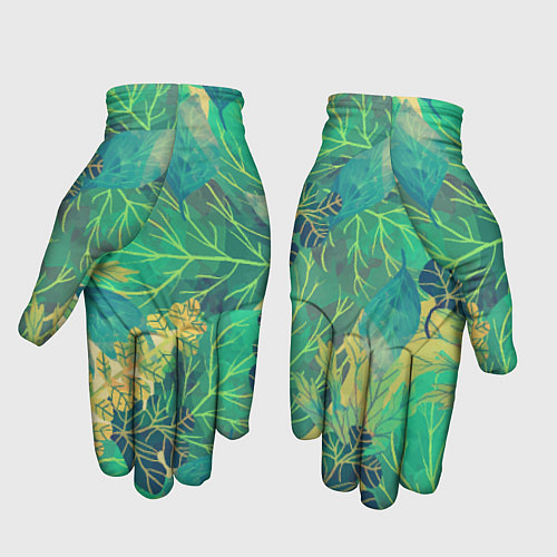 Перчатки Узор из листьев / 3D – фото 2