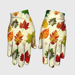 Перчатки Осень цвета 3D — фото 1