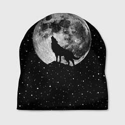 Шапка Лунный волк цвета 3D-принт — фото 1