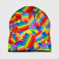Шапка Разные Pop It масляная краска цвета 3D-принт — фото 1