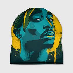 Шапка 2Pac Shakur цвета 3D-принт — фото 1