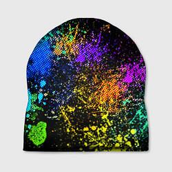 Шапка Брызги красок цвета 3D — фото 1