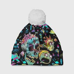 Шапка с помпоном Monsters Rick and Morty цвета 3D-белый — фото 1