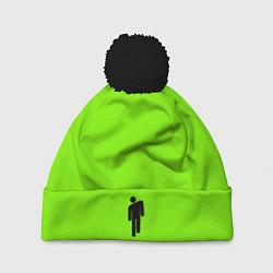 Шапка с помпоном Billie Eilish: Green цвета 3D-черный — фото 1
