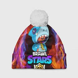 Шапка с помпоном BRAWL STARS LEON SHARK - фото 1