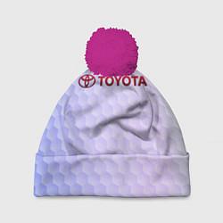 Шапка с помпоном TOYOTA цвета 3D-малиновый — фото 1