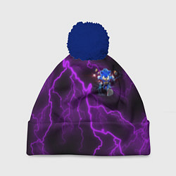 Шапка с помпоном SONIC цвета 3D-тёмно-синий — фото 1