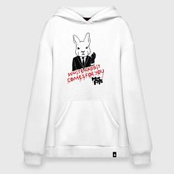 Толстовка-худи оверсайз Misfits: White rabbit цвета белый — фото 1