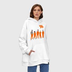 Толстовка-худи оверсайз Misfits Orange цвета белый — фото 2