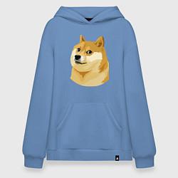 Толстовка-худи оверсайз Doge цвета мягкое небо — фото 1