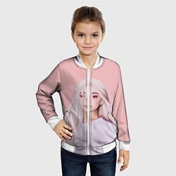 Бомбер детский Ariana Grande Ариана Гранде цвета 3D-белый — фото 2