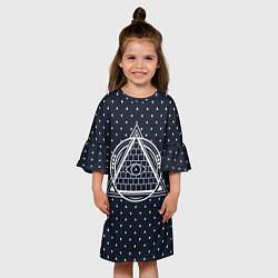Платье клеш для девочки Illuminati цвета 3D — фото 2