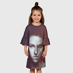 Платье клеш для девочки Chelsea Grin: Death Girl цвета 3D-принт — фото 2