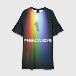 Платье клеш для девочки Imagine Dragons цвета 3D-принт — фото 1