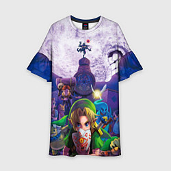 Платье клеш для девочки The Legend of Zelda цвета 3D-принт — фото 1