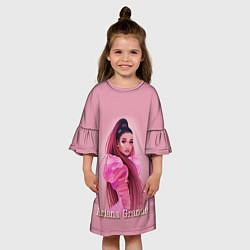 Платье клеш для девочки Ariana Grande Ариана Гранде цвета 3D-принт — фото 2
