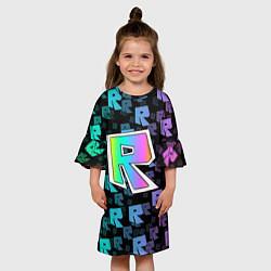 Платье клеш для девочки ROBLOX цвета 3D-принт — фото 2